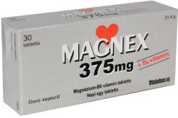 Vitabalans Oy Magnex 375mg+B6 vitamin tabletta - 30 db