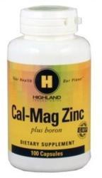 Highland Laboratories Cal-Mag Zinc tabletta - 100 db