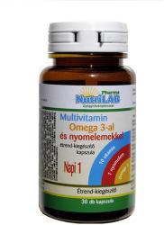 NutriLab Multivitamin+Omega-3 kapszula - 30 db