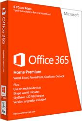 Microsoft Office 365 Home Premium P2 ENG (1 User, 1 Year) 6GQ-00684