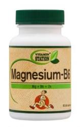 Vitamin Station Magnézium+B6-vitamin tabletta - 60 db