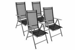 Garth alumínium, összecsukható szék készlet (4db-os szett)