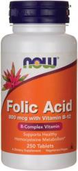 NOW Folic Acid 800mcg folsav tabletta - 250 db