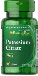 Puritan's Pride Potassium Citrate 99mg tabletta - 100 db
