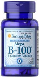 Puritan's Pride Mega B-100 B-Complex Vitamin tabletta - 50 db
