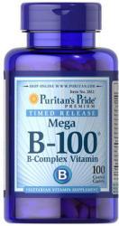Puritan's Pride Mega B-100 B-Complex Vitamin tabletta - 100 db