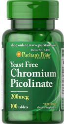 Puritan's Pride Chromium Picolinate 200mcg króm tabletta - 100 db