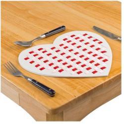Baker Ross Szív alakú tányéralátét szövés