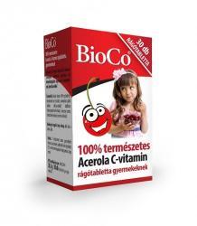 BioCo Acerola C-Vitamin rágótabletta gyerekeknek - 30 db
