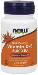 NOW Vitamin D-3 5000 IU kapszula - 240 db