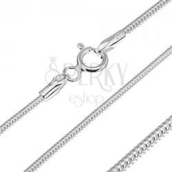 Ezüst nyaklánc - ízelt kígyólánc, 1, 4 mm