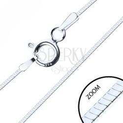 Vékony négyélű lánc, 925 ezüstből, 0, 6 mm