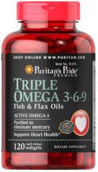 Puritan's Pride Triple Omega 3-6-9 kapszula - 120 db