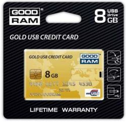 GOODRAM Credit Card Gold 8GB USB 2.0 PD8GH2GRCCPR9