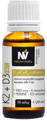 Nature & Vitality K2+D3 Forte vitamin cseppek - 20ml