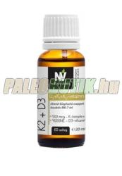 Nature & Vitality K2+D3 vitamin cseppek - 20ml