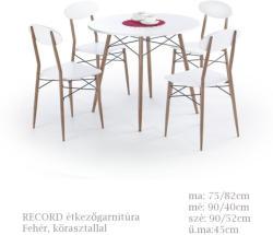 HALMAR Record étkezőgarnitúra kerek asztallal - 4 személyes