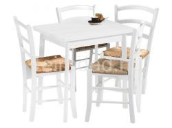 HALMAR Enter étkezőasztal 4 Peso székkel