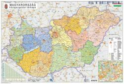 Stiefel Magyarország közigazgatása és közlekedése falitérkép, könyöklő Stiefel 65x45 cm
