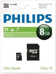 Philips MicroSDHC 8GB Class 10 SPHSDM08C10