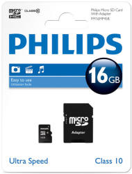 Philips MicroSDHC 16GB Class 10 SPHSDM16C10