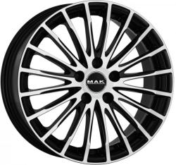 Mak Fatale White and Black CB76 5/112 17x7.5 ET30