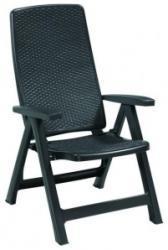 Curver Montreal 4 pozíciós karfás műanyag szék