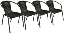 Garth polyrattan kerti szék készlet (4db-os szett)