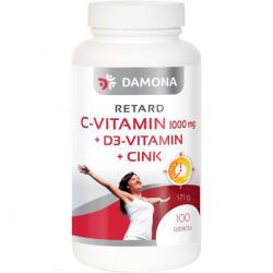 Damona Retard C-vitamin 1000mg+D3-vitamin+Cink tabletta - 100 db
