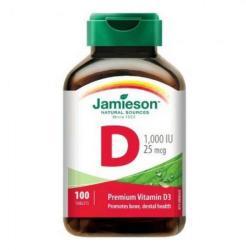 Jamieson D-Vitamin (D3-vitamin) 1000 IU tabletta - 100 db