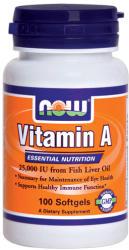 NOW Vitamin A 25000 IU kapszula - 100 db