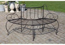 Jette - félköríves antik kerti pad vasból