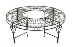 Nyima - kör alakú antik kerti pad vasból