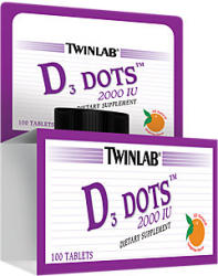 Twinlab D3 Dots 2000 IU tabletta - 100 db