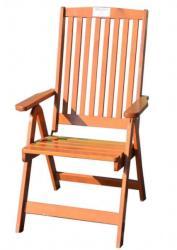 Holiday állítható kerti szék, lakkozott