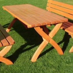 Strong kerti fa asztal, masszív