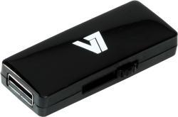 V7 Slide-In 16GB USB 2.0 VU216GAR-BLK-2E