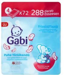Gabi Puha törlőkendő 4x72db
