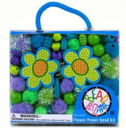 Bead Bazaar Virágos gyöngy csokor - kék