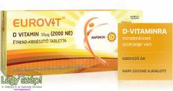 Eurovit D-vitamin 2000 NE tabletta - 30 db