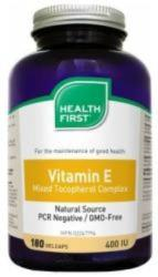 Health First Vitamin E 400 IU kapszula - 180 db