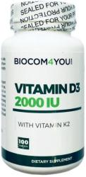 Biocom Vitamin D3 2000 IU K2-vitaminnal - 100 db
