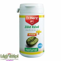 Dr. Herz Zöld Kávé+Króm+C-Vitamin kapszula - 60 db