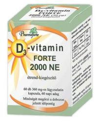 Pharmaforte D3-vitamin Forte 2000 NE kapszula - 60 db
