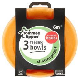 Tommee Tippee Essential Basics etetőtálka 6 hónapos kortól 3db