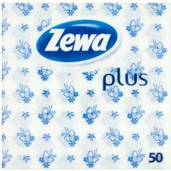 Zewa Plus 1 rétegű kék mintás szalvéta 50db