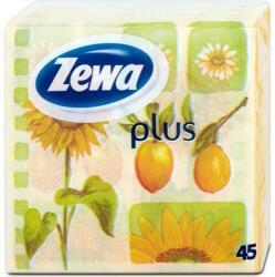 Zewa Plus 1 rétegű napraforgó mintás szalvéta 45db