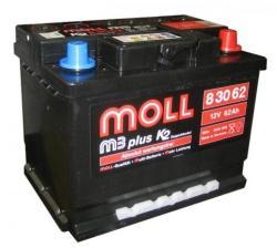 Moll m3 plus K2 62Ah 600A