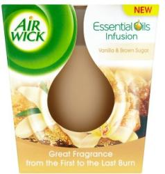 Air Wick Essential Oils Infusion Vanilla & Brown Sugar illatgyertya 105g