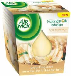Air Wick Essential Oils Infusion Vanilla & Brown Sugar illatgyertya 105g